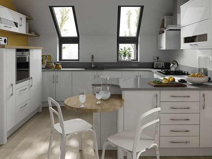 Porter white cheap kitchens ireland fitted kitchens for Kitchen designs ireland